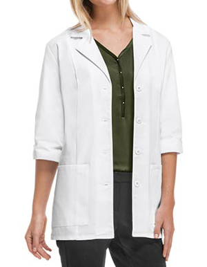 Picture of Cherokee-CH-1470A-Cherokee's Professional Whites with Certainty Women's 30 Inches 3/4 Sleeve Lab Coat