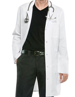 Picture of Cherokee-CH-4403-Cherokee Workwear Unisex 38 Inches Notched Lapel Neckline Lab Coat