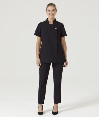 Picture of NNT Uniforms-CATUFL-BLK-Asymetric Front Tunic