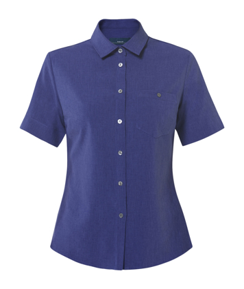 Picture of NNT Uniforms-CATU2U-MBL-Short Sleeve Action Back Shirt
