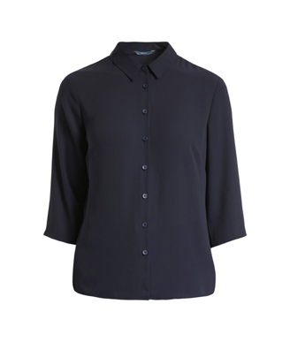 Picture of NNT Uniforms-CAT9RL-NAV-3/4 Sleeve Pleat Detail Blouse