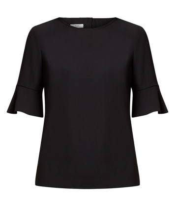 Picture of NNT Uniforms-CATUBZ-BLA-Fluted Sleeve Top