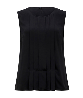 Picture of NNT Uniforms-CATU5Q-BKP-Sleeveless Pleat Front Blouse