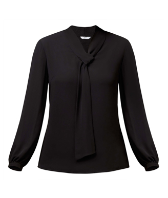 Picture of NNT Uniforms-CATUG4-BLA-Tie Neck Blouse