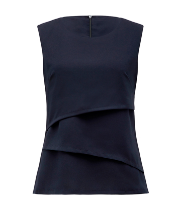 Picture of NNT Uniforms-CAT9XC-NAV-Sleeveless Layered Top