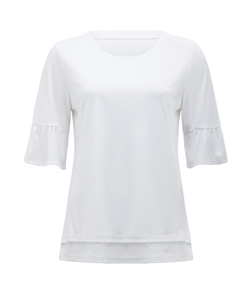 Picture of NNT Uniforms-CATUA6-WHP-Short sleeve ruffle sleeve top