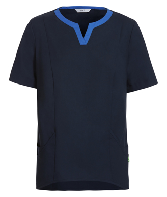 Picture of NNT Uniforms-CATU5A-NAV-Fleming round neck scrub top