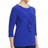 Picture of NNT Uniforms-CATU9Q-MBL-3/4 Round Neck T-Top