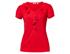 Picture of NNT Uniforms-CAT48H-RED-Cap Sleeve Ruffle Neck T-Top