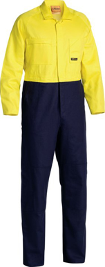 Picture of Bisley Workwear-BC6357-Hi Vis Drill Coverall