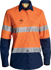 Picture of Bisley Workwear-BL6415T-Womens 3M Taped X Airflow™ Ripstop Hi Vis Shirt - Long Sleeve