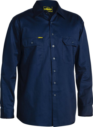 Picture of Bisley Workwear-BS6893-Cool Lightweight Drill Shirt Long Sleeve