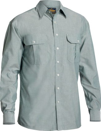 Picture of Bisley Workwear-BS6030-Oxford Shirt Long Sleeve