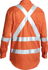 Picture of Bisley Workwear-BS6156T-3M Taped X Back Cool Lightweight Hi Vis Drill Shirt Long Sleeve