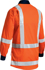 Picture of Bisley Workwear-BS6248T-Taped Ttmc-W Hi Vis Drill Shirt Long Sleeve