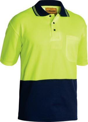 Picture of Bisley Workwear-BK1234-Hi Vis Polo Shirt Short Sleeve