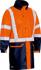 Picture of Bisley Workwear-BJ6935HT-Taped Hi Vis Stretch Pu Rain Coat With Concealed Hood (Waterproof)