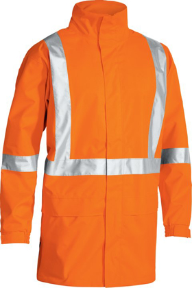 Picture of Bisley Workwear-BJ6968T-Taped Hi Vis Rain Shell Jacket With X Back