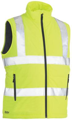 Picture of Bisley Workwear-BV0329HT-Taped Hi Vis Puffer Vest - H Pattern (Shower Proof)