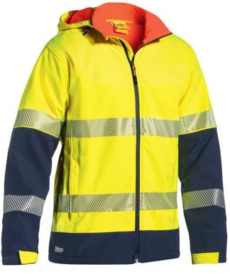 Picture of Bisley Workwear-BJ6934T-3M Taped Hi Vis Ripstop Bonded Fleece Jacket (Shower Proof)