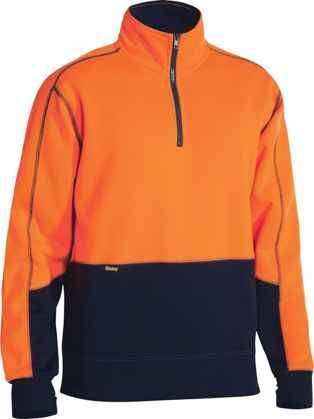 Picture of Bisley Workwear-BK6989-Hi Vis Fleece Zip Pullover