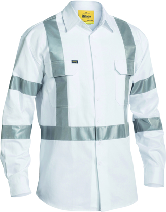 Picture of Bisley Workwear-BS6807T-3M Taped Night Cotton Drill Shirt