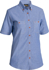 Picture of Bisley Workwear-B71407L-Womens Chambray Shirt - Short Sleeve