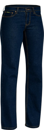 Picture of Bisley Workwear-BPL6712-Womens Rough Rider Denim Stretch Jean