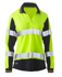 Picture of Bisley Workwear-BKL6225T-Womens Long Sleeve Taped Two Tone Hi Vis V-Neck Polo