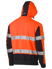 Picture of Bisley Workwear-BK6815T-Taped Hi Vis Stretchy Fleece Hoodie