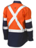 Picture of Bisley Workwear-BS6696XT-3M X Taped Hi Vis Cool Lightweight Shirt Long Sleeve