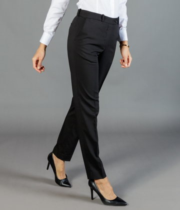 Picture of Gloweave-1762WT-WOMEN'S SLIM LEG PANT - ELLIOT WASHABLE SUITING