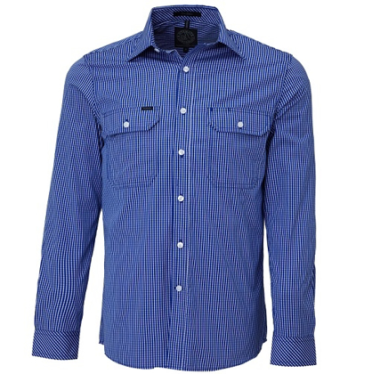 Picture of Ritemate Workwear-RMPC009-Men's L/S shirt, Double Pockets