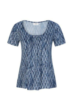 Picture of LSJ collection-711-KNP-Ladies Round neck pleat front top