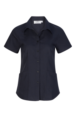 Picture of LSJ collection-214-SF-Ladies Short sleeve shirt with action back and pockets
