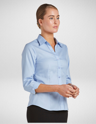 Picture of Corporate Reflection-6200Q33-Serenity Womens Fitted 3/4 Sleeve shirt