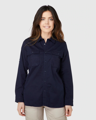 Picture of ELWD Workwear-EWD701-WOMENS UTILITY SHIRT