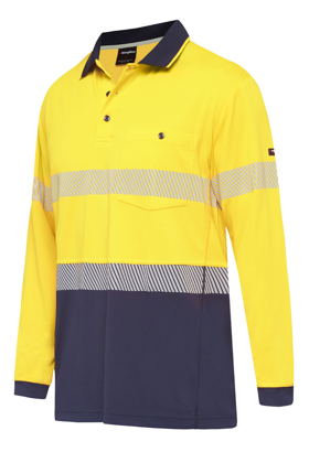 Picture of King Gee-K54225-Workcool Hyperfreeze Spliced Taped Polo L/S