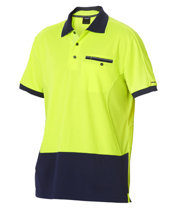 Picture of King Gee-K54845-Workcool 2 Hyperfreeze Hi Vis Polo S/S