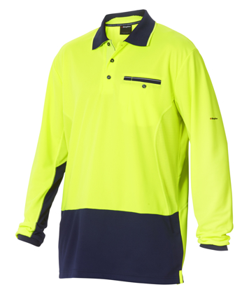 Picture of King Gee-K54840-Workcool 2 Hyperfreeze Hi Vis Polo L/S