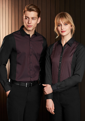 Picture of Biz Collection-S414LL-Ladies Reno Panel Long Sleeve Shirt