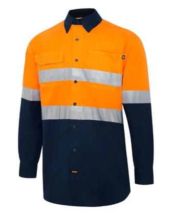 Picture of Visitec-V5001-L/S Fusion Lightweight D/N Hi-Vis Shirt