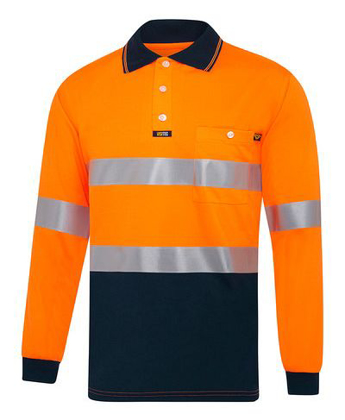 Picture of Visitec-V2002-L/S Microfibre Day/Night Polo