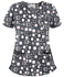 Picture of UA638PTF Print Top - Funky Geometric Pewter