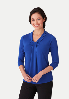 Picture of City Collection-2221-Pippa Knit 3/4 Sleeve Blouse