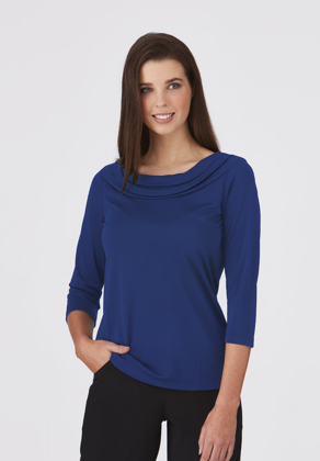 Picture of City Collection-2226-Eva Knit 3/4 Sleeve Blouse