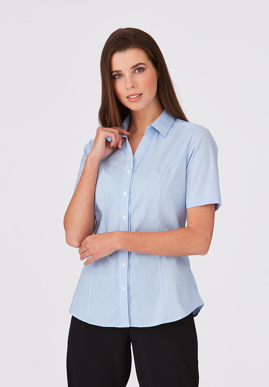 Picture of City Collection-2267-City Stretch® Pinfeather Short Sleeve Shirt