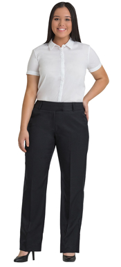 Picture of Corporate Comfort-FPA50-4060-Wool Blend Ladies Curvy Pant