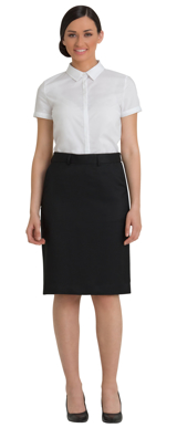 Picture of Corporate Comfort-FSK45-992-Sorbtek Ladies Knee Length Front Pocket Skirt