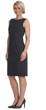 Picture of Corporate Comfort-FDR41-992-Stephanie Sorbtek Sleeveless Shift Dress